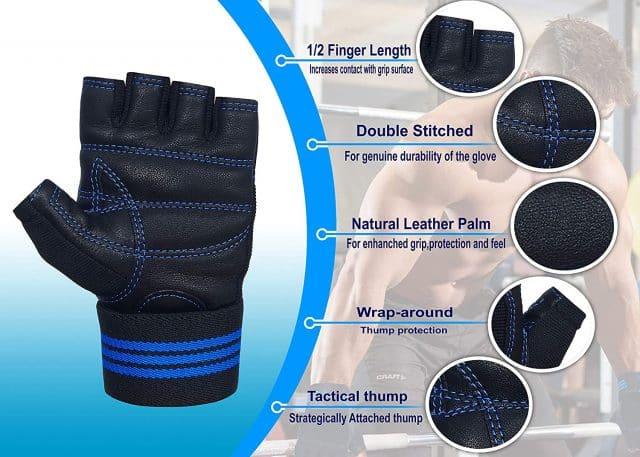 Xtrim Unisex Macho Gym Workout Wrist Wrap Gloves